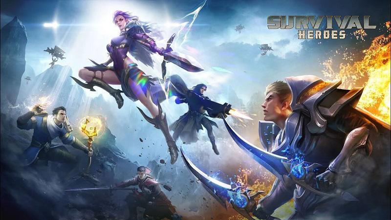 Game Survival Heroes là sự kết hợp giữa MOBA và Battle Royale